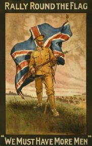 "Rally round the flag. ""We must have more men"". Vintage WW1 Poster."